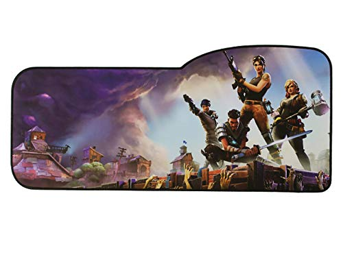 Extended Size Custom Professional Gaming Mouse Pad - Anti Slip Rubber Base - Stitched Edges - Large Desk Mat - 28.5' x 12.75' x 0.12' (Curve, Battle Royale)