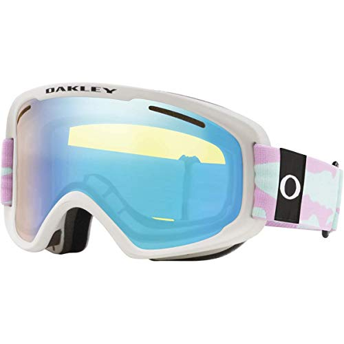 Oakley Frame 2.0 Pro Xm Ski Goggles, Unisex Adulto, Lavender Camo/hi Yellow Iridium/Dark Grey, M