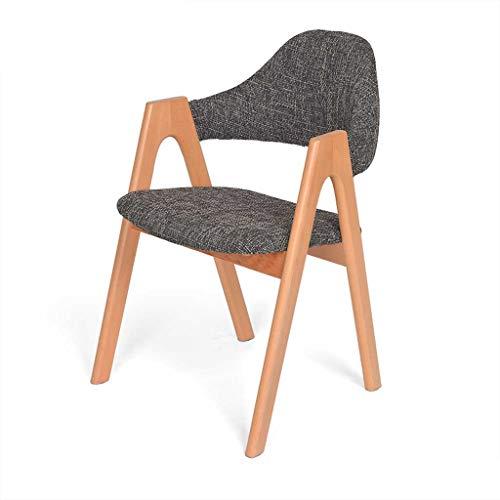 LINGZHIGAN Dossier de chaise en bois Loisir à manger Chaise de bureau Chaise d'ordinateur Table de salle à manger minimaliste moderne et chaise (Couleur : C)