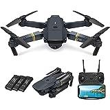 WECDS-E Drone RC Plegable E58, Quadcopter de fotografía con Modo sin Cabeza, Altura Fija, avión de Juguete para vehículos aéreos no tripulados para Adultos, Principiantes, 4K