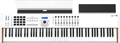 Arturia KeyLab 88 MkII Hammer-Action MIDI Controller and Software (White)