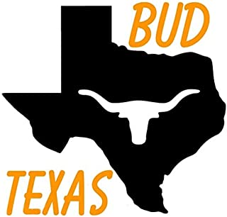 Scecent Neon Sign Bud Texas Map Longhorn Beer Sign Flex LED Neon Light 17 Inches