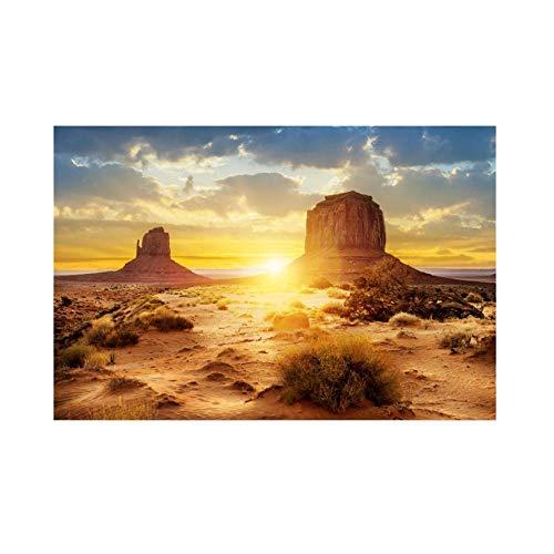 Filfeel - Sfondo per acquario, poster in PVC, tema: sole e deserto