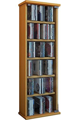 VCM Regal DVD CD Rack Medienregal Medienschrank Aufbewahrung Holzregal Standregal Möbel Bluray Möbel Farbwahl