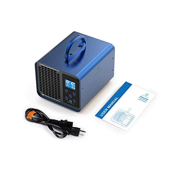 Airthereal ma10k-prodigi digital ozone generator 10,000mg/hr high capacity odor remover ionizer - adjustable settings… 5 powerful capacity: with a max ozone output of 10, 000mg per hour and a honeycomb current technology, this ozone generator packs a punch when compared to smaller-output units. In addition to regular home use, this also makes the ma10k-prodigi perfect for larger areas like offices, restaurants, hotels, and garages. Easy control interface: extra buttons and settings make things confusing, so we got rid of them! With only 5 buttons on the control panel and an easy-to-read lcd display, you can get your ozone generator up and running in a matter of seconds. Extra long timer: for those extra strong odors, you may need to run your ozone generator for longer periods of time. The upgraded timer on your airthereal ozone generator allows you to produce ozone for up to 12 hours at a time, which will help eliminate even the toughest odors.