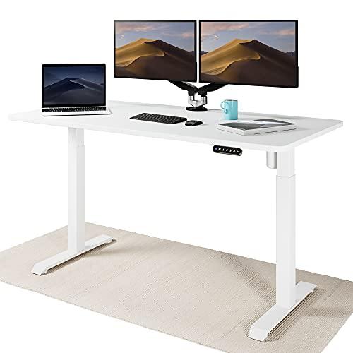Desktronic Elektrisch Höhenverstellbarer Schreibtisch - Bequem und Schmerzfrei von Zuhause Arbeiten...