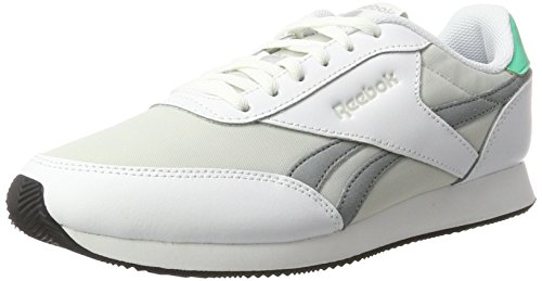 Reebok Royal Classic Jogger 2, Zapatillas Mujer, Blanco (White/Skull Grey/Flint Grey/Bright Emerald/Black),...