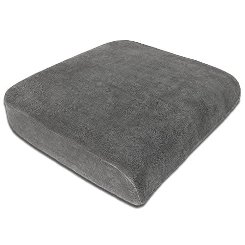 Cojín de Asiento Visco-Top XL para un Excelente Confort al Sentarse // Cojín Viscoelástico con Sistema de Doble Espuma - Cojín de Silla extra Ancho