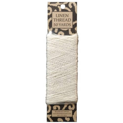 Books by Hand Linen Thread, Archival Quality Natural Unbleached and Unwaxed, 50 Yards 35/3 Gauge, Ideal for Bookbinding and Sewing Signatures