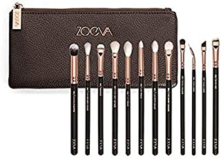 Soft Blending 12 in 1 ZOEVA Full Set 12 Brushes Makeup Cosmetics and Smooth eyeshadow Brush Tool Rose Golden Complete Eye ...