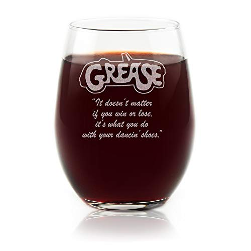 Grease Movie Stemless Wine Glass