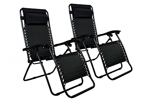 Price comparison product image Deedeeshop888 Chairs Case of 2 Lounge Patio Chairs Outdoor Yard Beach O62 New Zero Gravity