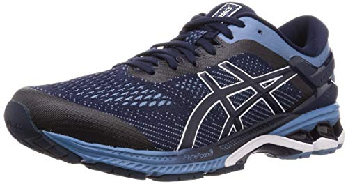 ASICS Gel-Kayano 26 Shoes Men Midnight/Grey Floss Shoe Size US 8,5   EU 42 2019 Running Shoes