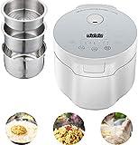 Cocina y vapor de arroz Cocina automática, fácil limpieza Hacer arroz y vapor Saludable Alimentos y verduras Sear, estofado y agitar, 800W, 5L