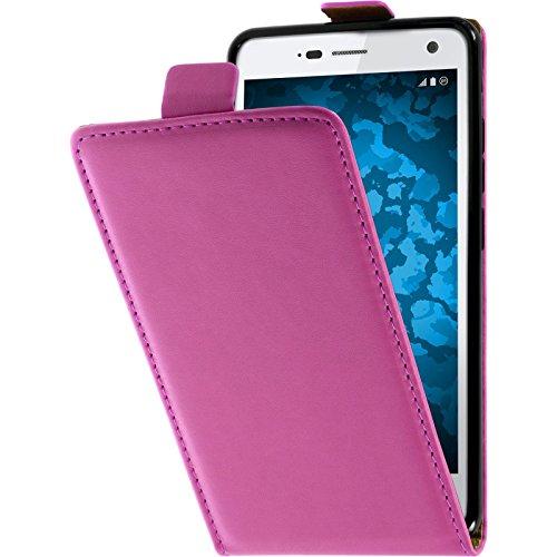 PhoneNatic Kunst-Lederhülle kompatibel mit ZTE Blade L3 - Flip-Hülle pink Cover