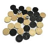 Ashley GAO Damas y Damas de ajedrez de Madera Natural y Pieza de ajedrez de Backgammon para niños Juego de Mesa Aprendizaje Camping con Disco