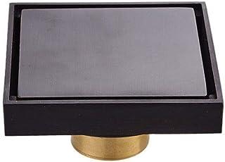 ステンレス製シャワー床排水 ステルスは、床ドレン銅浴室キッチンバルコニーリビング排水床ドレン(黒)を防止しようとし ステンレス鋼の正方形のバスルームの床ドレン (色 : ブラック, サイズ : 10 x 10 x 5cm)