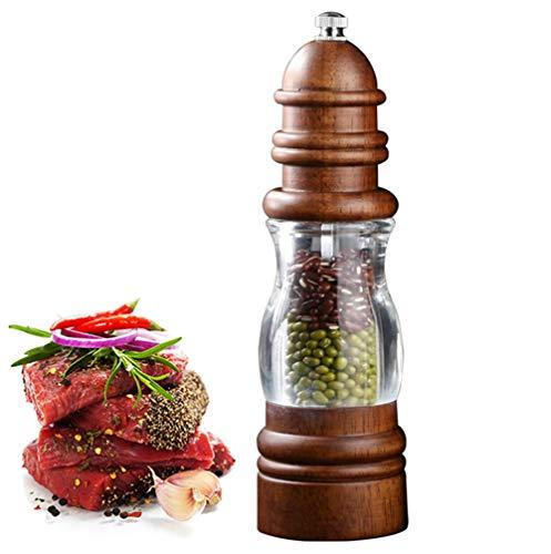 MAI&BAO Salzmühle Gewürzmühle aus Eiche Salz und Pfeffermühle Gewürzmühle,Grob und fein einstellbar für Picknicks, Abendessen, Partys, Restaurants, Grillabende und Hotels,Brown