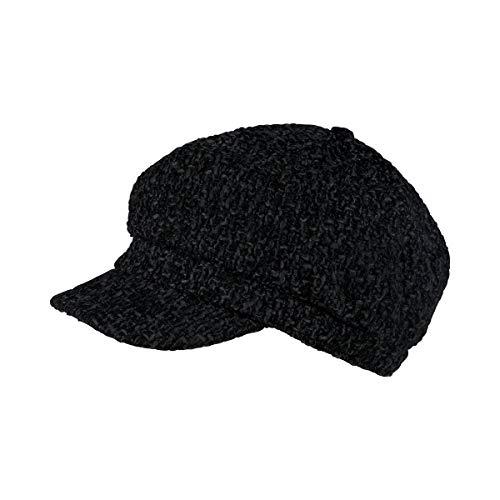 Unbekannt City-Mütze schwarz mit Gummizug, bis 58 cm, Damen | Mütze, Accessoire, Kopfbedeckung, Kappe