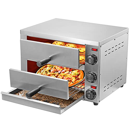 Pizza Oven Ovens Electric Mryitcal Countertop Home Commercial Pizza and Snack Oven Stainless Steel for 12-Inch Pizza Bread Pies Appetizers Quesadillas and Pastries (110V, 2100W)
