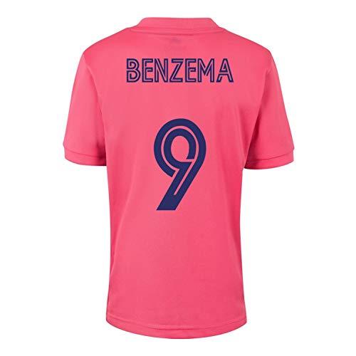 Champion's City Kit - 9 Benzema - Camiseta y Pantalón Infantil Segunda Equipación - Real Madrid - Réplica Autorizada - Temporada 2020/2021