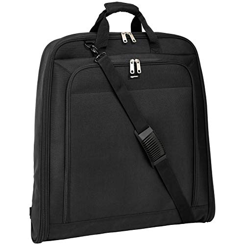 AmazonBasics Premium Travel Hanging Luggage Suit Garment Bag, 23 Inch, Black