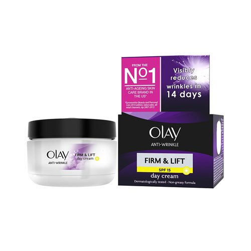 Olay Anti-Wrinkle Firm & Lift Day Cream SPF 15 50 ml (Packaging Varies)