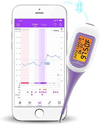 Easy Home Smart Basal Thermometer Large Screen and Backlit Period Tracker with Premom iOS Android product image