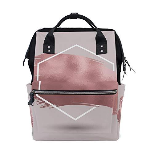 Abstract Rose Gold Texture Luiertas Rugzak voor mama grote Unisex luiertassen Baby Care Travel Rugzak Outdoor School Laptop Bag
