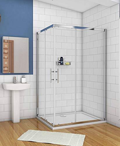 Duschkabine 110x90cm Schiebetür Duschwand Dusche 6mm NANO Sicherheitsglas Höhe 195cm Duschabtrennung