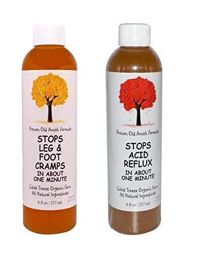 Amish Remedy for Leg Cramps and Acid Reflux with Apple Cider Vinegar Naturally Stops Leg and Foot Cramps and Stops Acid Reflux Bundle by Caleb Treeze