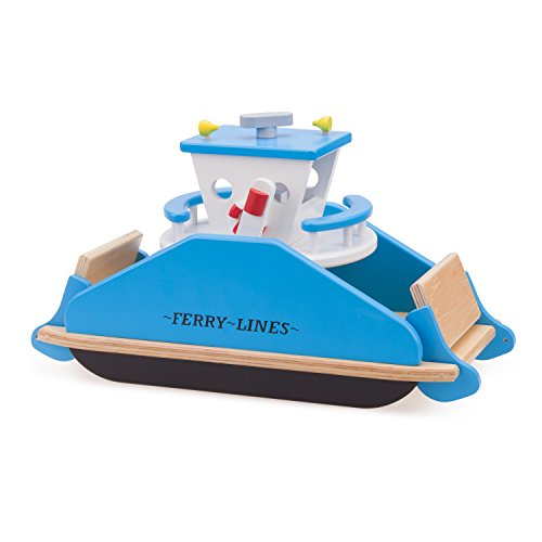 New Classic Toys Bateau Ferry Jouet en Bois pour Enfant