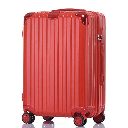 N\C Suitcase With 4 Wheels Fine-tuning ABS Hard Shell Trolley Case, Portable Suitcase With Three Locks