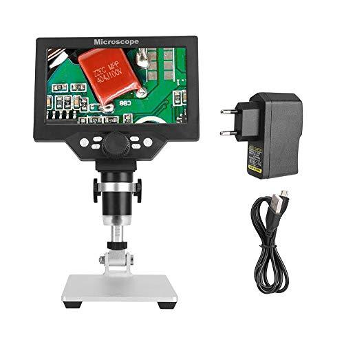 USB Mikroskop, 7in 1200X Digital Mikroskop HD LCD Monitor Elektronische LED Lupe Werkzeug 110-240V(EU 110-240V)