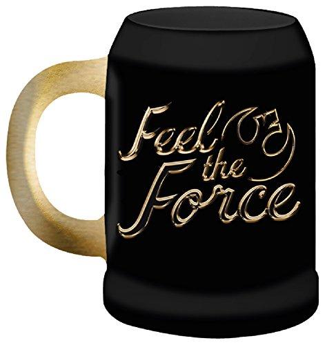 STAR WARS Episode VIII The Last Jedi Gold Feel The Force Beer Mugs, Ceramic, Black, 11x16x14 cm