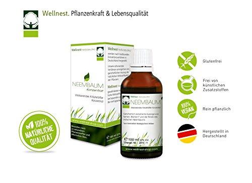 Wellnest Neembaum Konzentrat 100ml | Neem/Niembaum Tropfen | ohne künstliche Farb- oder Geschmacksstoffe - 100% natürlich und vegan | handgemacht in Deutschland