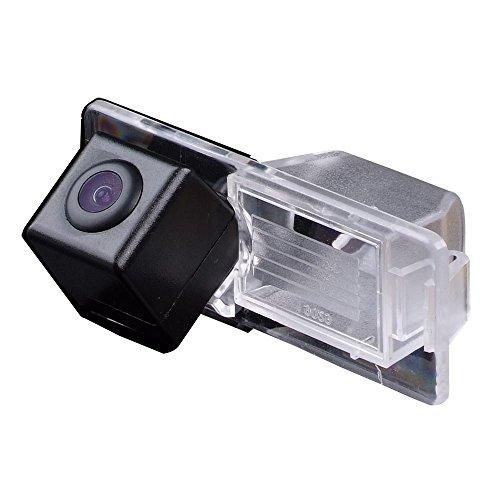 Rückfahrkamera wasserdicht Nachtsicht Auto Rückansicht Kamera Einparkhilfe Rückfahrsystem,Schwarz für Vectra C Caravan Rückfahrkamera Trax Aveo Mokka Roewe Cadillac HD