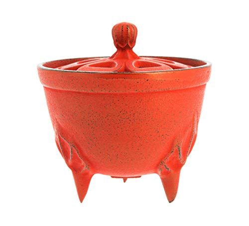 Iwachu INC29021RD Iwachu Brûle-Parfum Bol Rouge 8,81 cm
