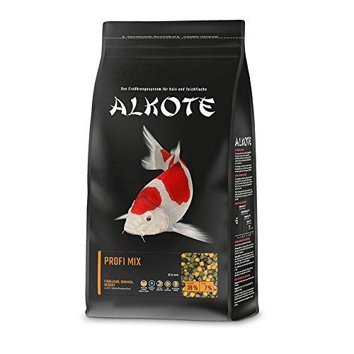 AL-KO-TE, 3-Jahreszeitenfutter für Kois, Frühjahr bis Herbst, Schwimmende Pellets, 6 mm, Hauptfutter Profi Mix, 1 kg