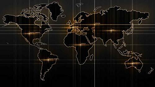 Muismat groot formaat World Map Series Mousepad glad oppervlak | Verbeterde precisie en snelheid | Waterdicht, 800x300x2mm, A