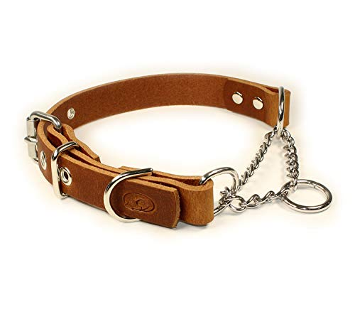 sleepy pup Adjustable Leather Martingale Chain