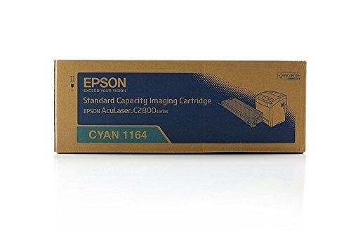 Epson Original C13S051164 / S051164, für Aculaser C 2800 Series Premium Drucker-Kartusche, Cyan, 2000 Seiten