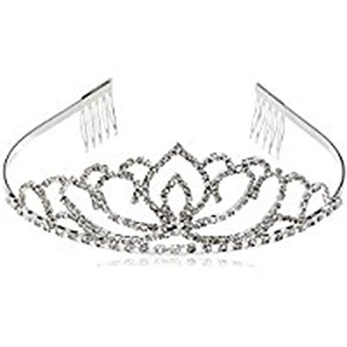 Doitsa 3 Stück Haarband Stirnband Mode Wasser Bohrer Reifen Brautkrone Kopfhaarzusätze Kopfband Kostüm Accessories für Frauen und Mädchen Weiß