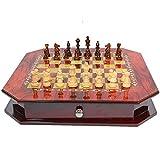 YAMMY Ajedrez Ajedrez Vintage Juegos de Mesa Naturales Juegos Tradicionales Juegos de Interior Juegos de Rompecabezas (Juegos de ajedrez)