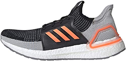 adidas Men's Ultraboost 19 Running Shoe, Black/Solar Orange/Glow Blue, 7 UK