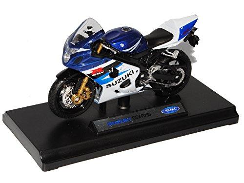 Suzuki GSX-R750 Blau Weiss 1/18 Welly Modell Motorrad
