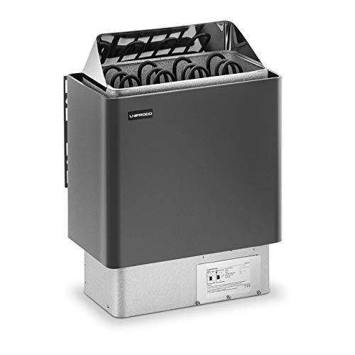 Uniprodo UNI_SAUNA_G6.0KW Saunaofen 6 kW 30 bis 110 °C Überhitzungsschutz Thermostat Saunaheizung elektrisch
