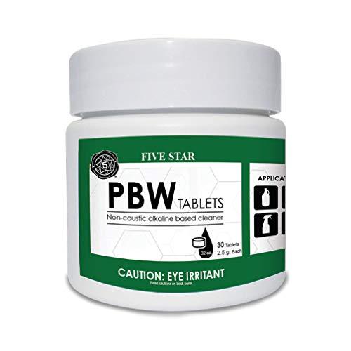 Five Star PBW Tablets - 2.5 g 30 ct - Bottle, Growler, Keg Cleaner