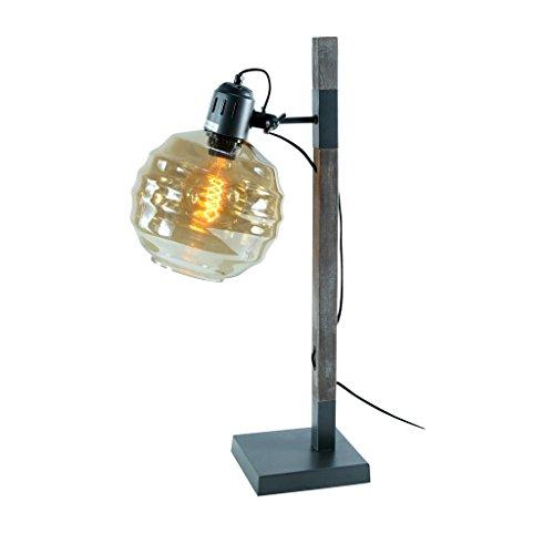 ZONS Lampe À Poser Industry D20x15x18xH65cm + Ampoule Edison Gris