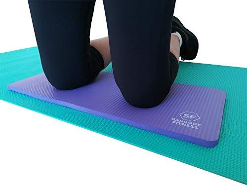 Sargoby Fitness Yoga Ginocchiera Cuscino 15 mm | Ginocchiera per Pilates per fornire sollievo a ginocchia, gomiti, avambracci e polsi, ginocchiere per allenamento | piccolo tappetino per yoga (viola)
